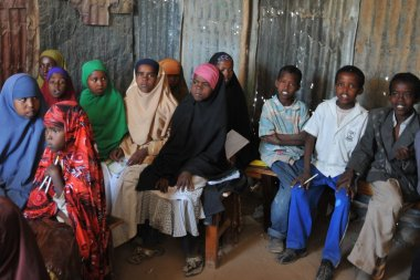 School camp for African refugees on the outskirts of Hargeisa