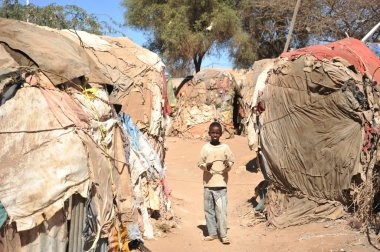 Camp for African refugees and displaced people on the outskirts of Hargeisa in Somaliland under UN auspices.