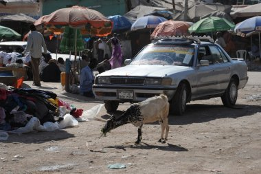 Somalis in the streets of the city of Hargeysa.