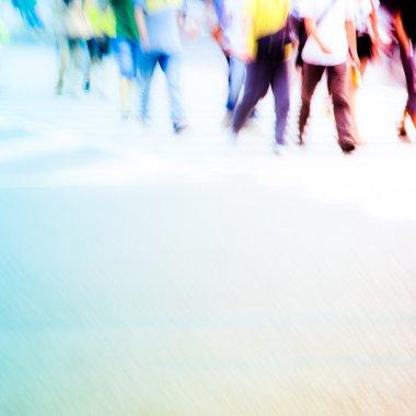 pedestrians in city street