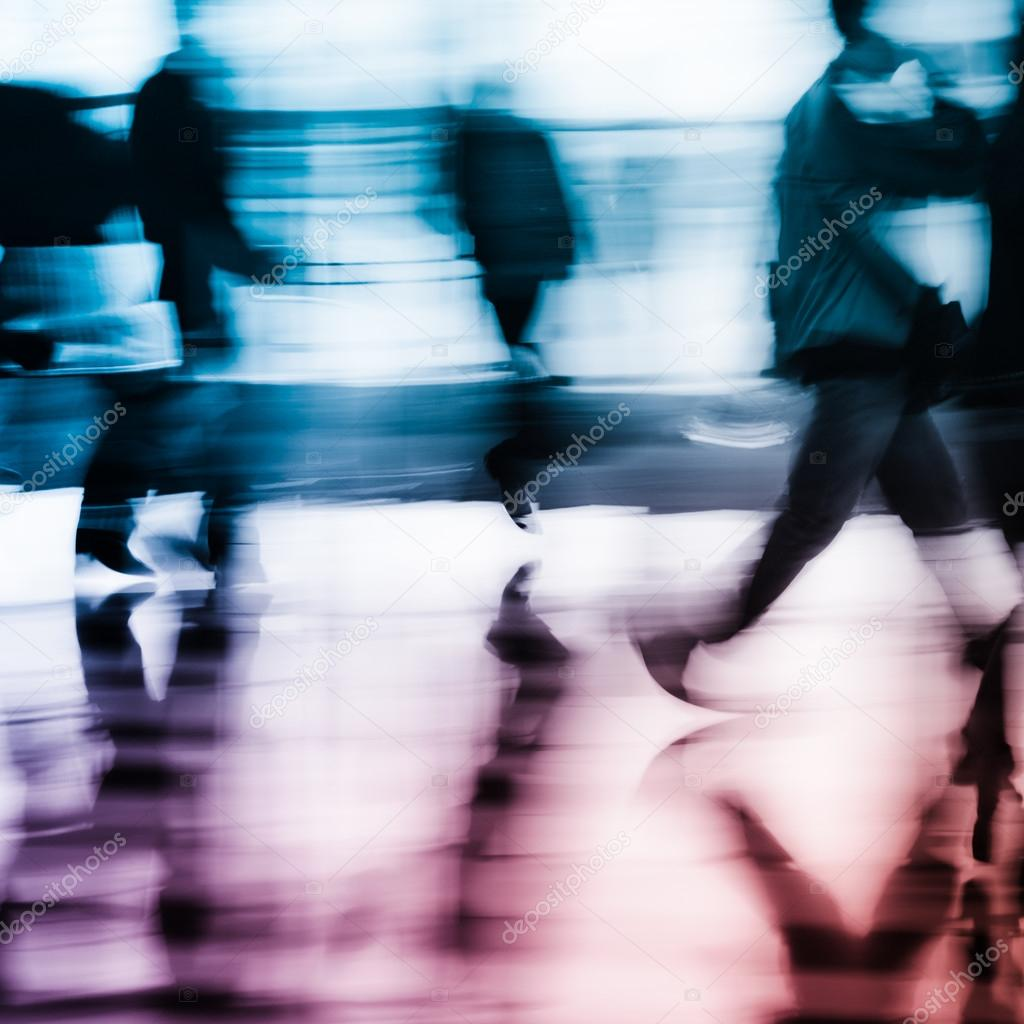 city business running abstract background