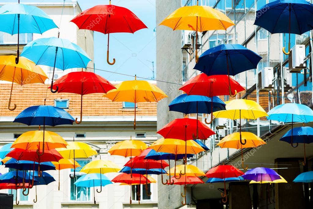 Πολύχρωμες ομπρέλες — Φωτογραφία Αρχείου