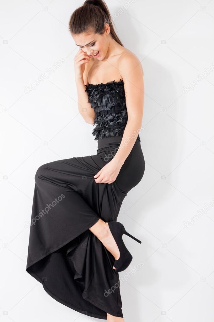 Long Elegant Dress Stock Photo Cokacoka 38932449