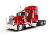 piros amerikai teherautó elszigetelt fehér background