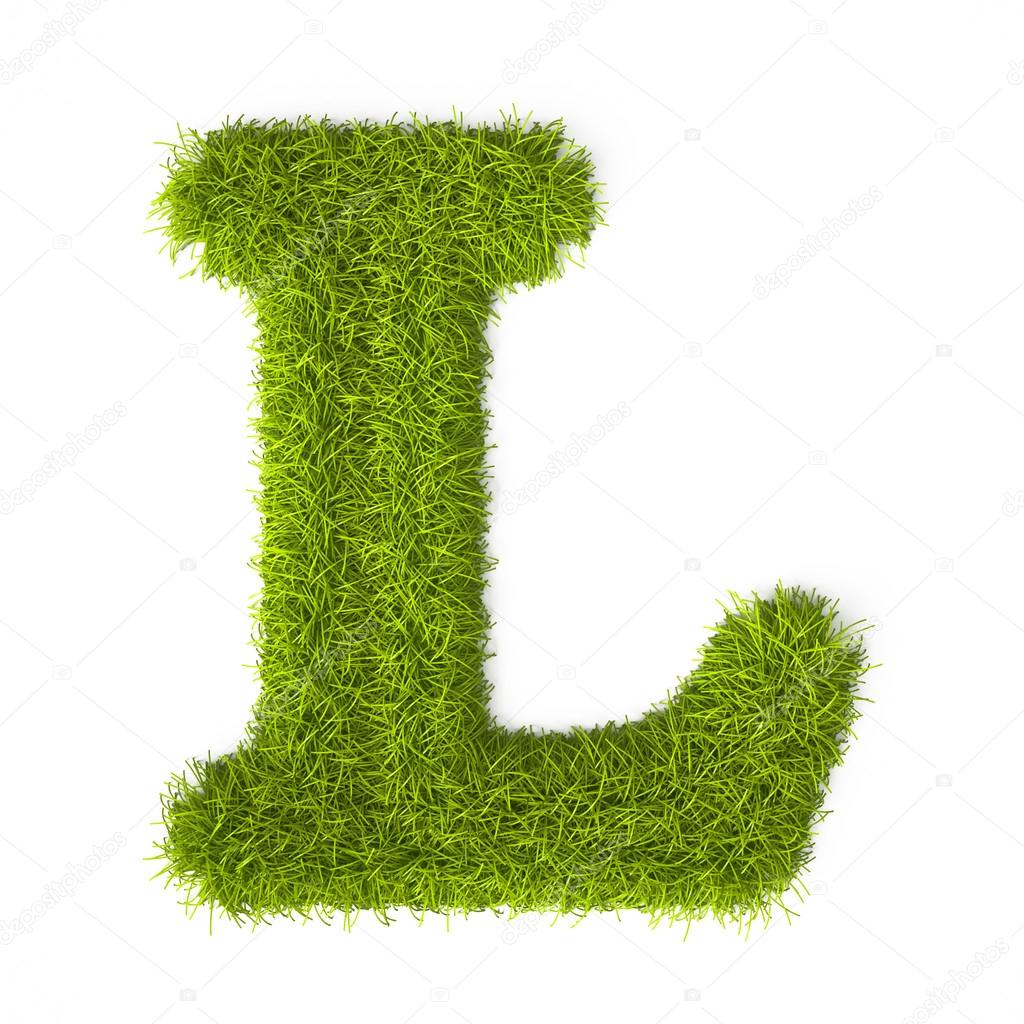 Grass Style Latin Alphabet Letter L Stock Photo C Vahekatrjyan