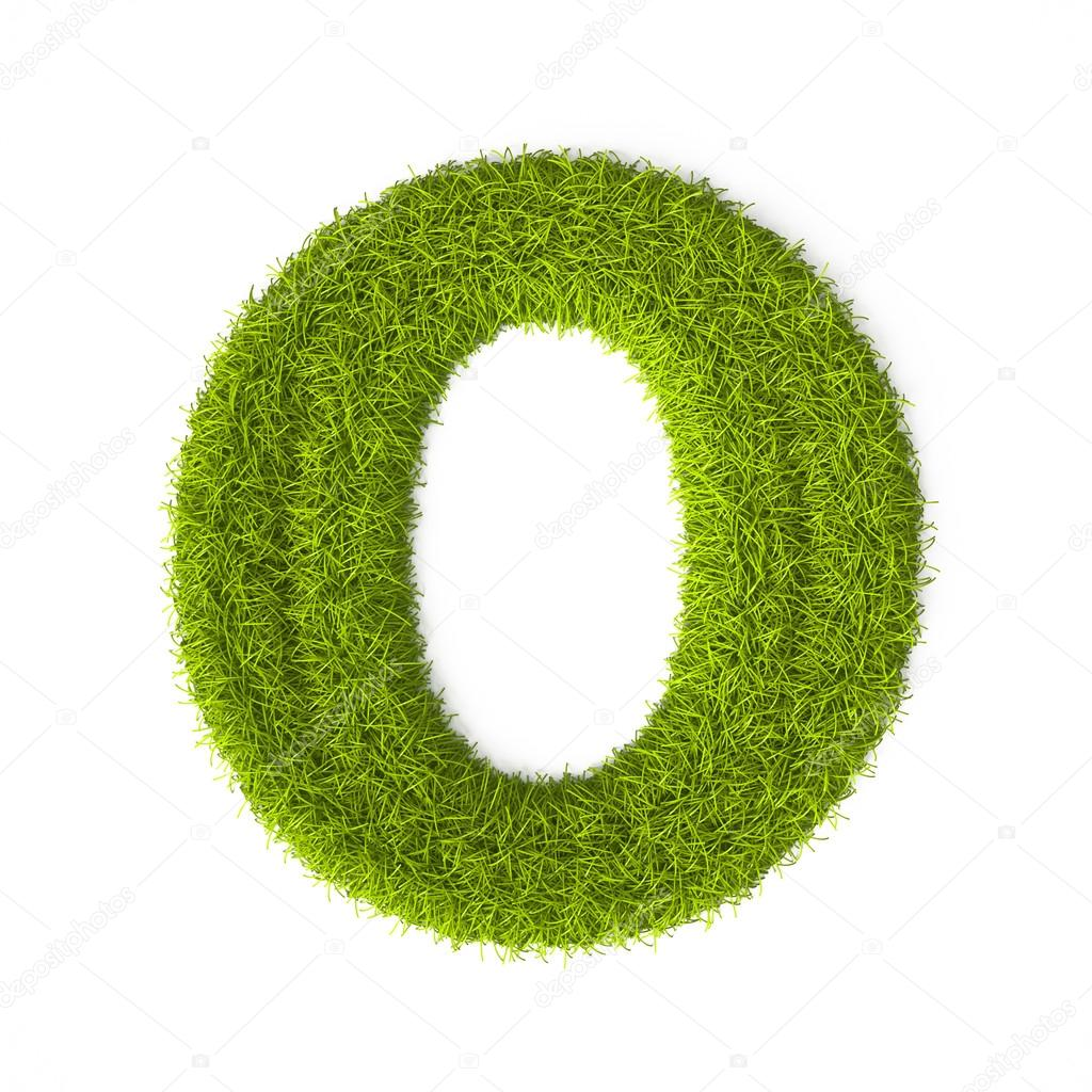 Grass style Latin Alphabet Letter O