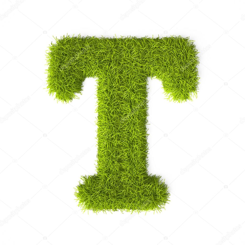 Grass style Latin Alphabet Letter T