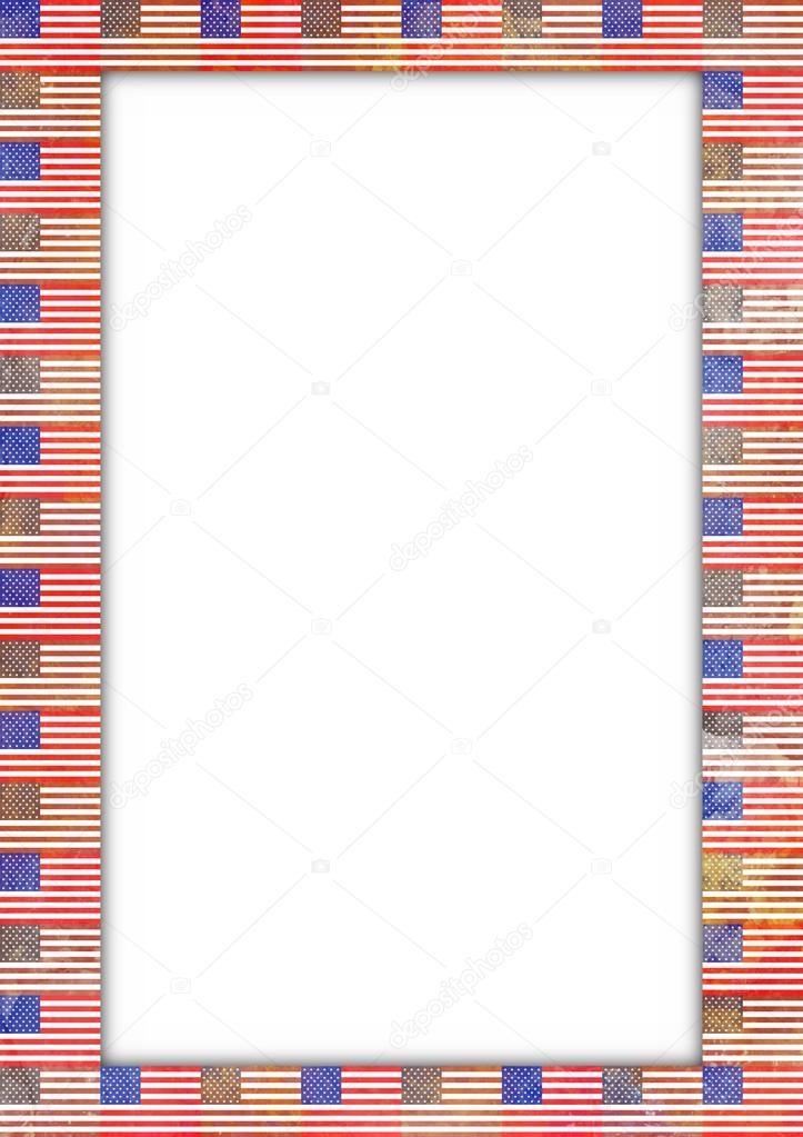 usa flag border stock photo darrenw 20721097