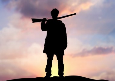 Rifle man on horizon