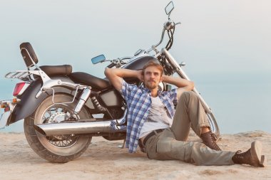 man and motorcycle