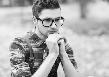 Hipster style guy