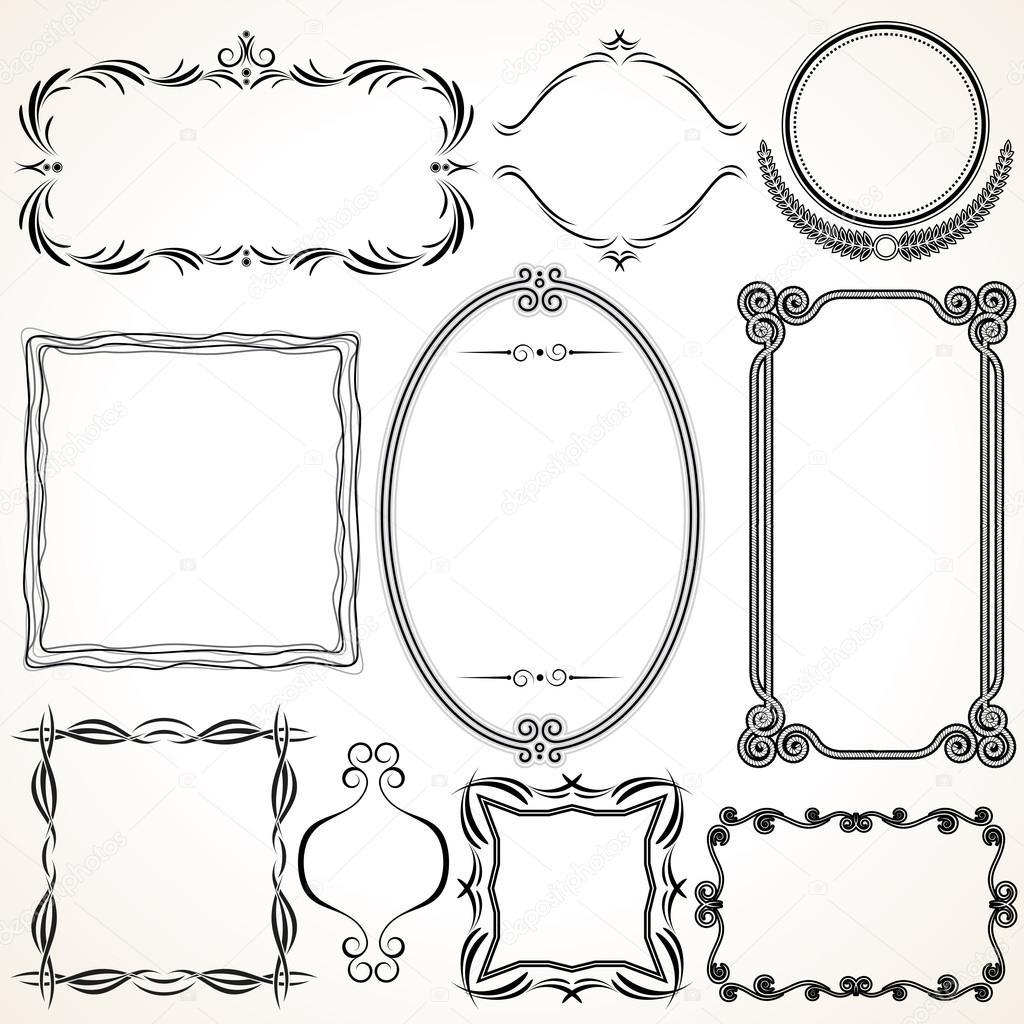 Marcos ornamentales — Archivo Imágenes Vectoriales © PILart #13589915