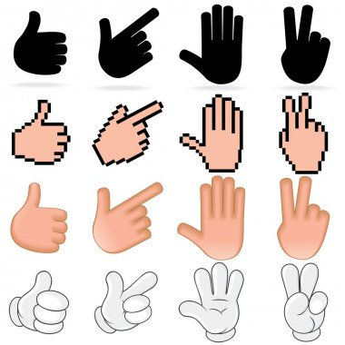 Stylized Vector Hands