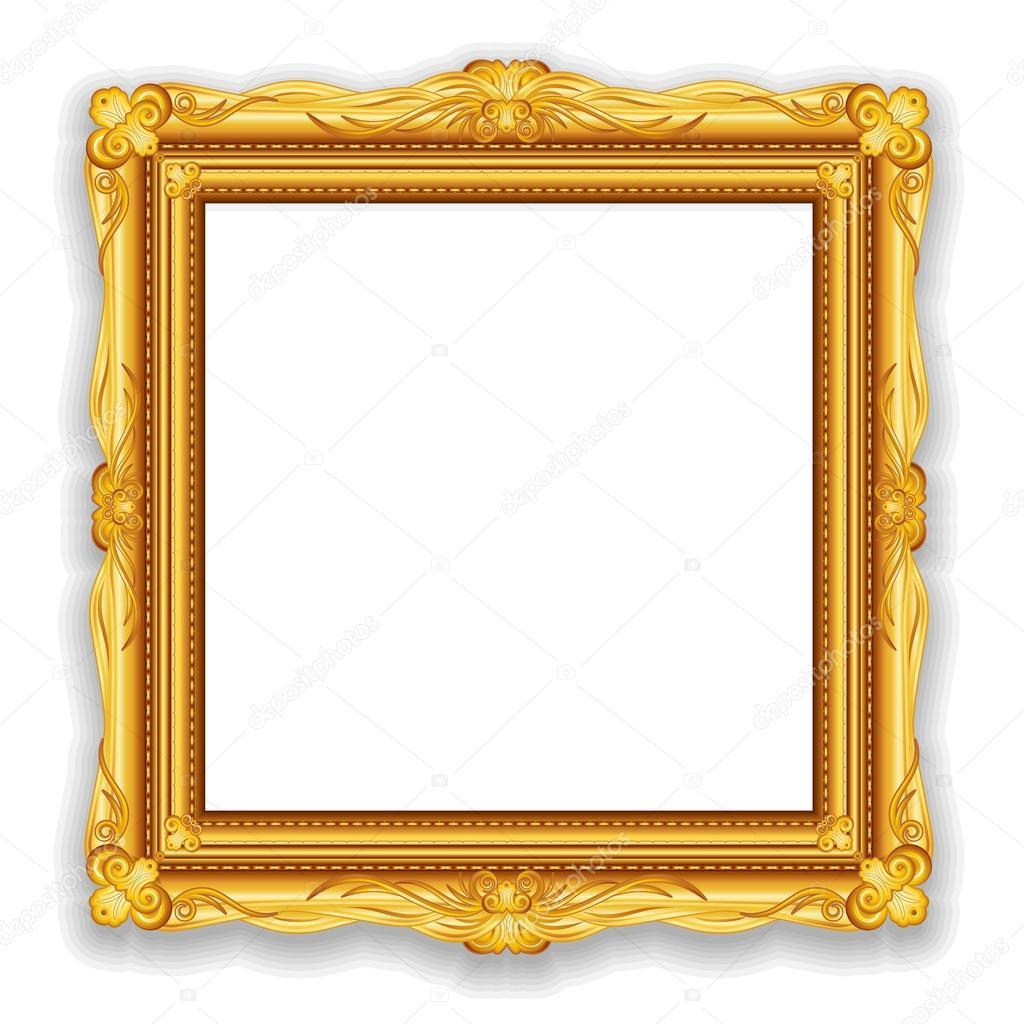 Gold Vintage Frame Eps10