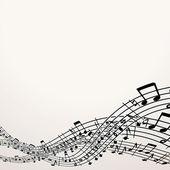 musikalische Untermalung. Vektor-Bild mit freiem Speicherplatz