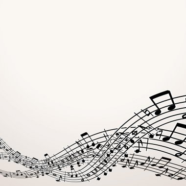 Musical Background. Vector Image with Free Space