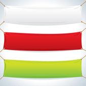 ilustrace textilní bannery. vektorové šablona