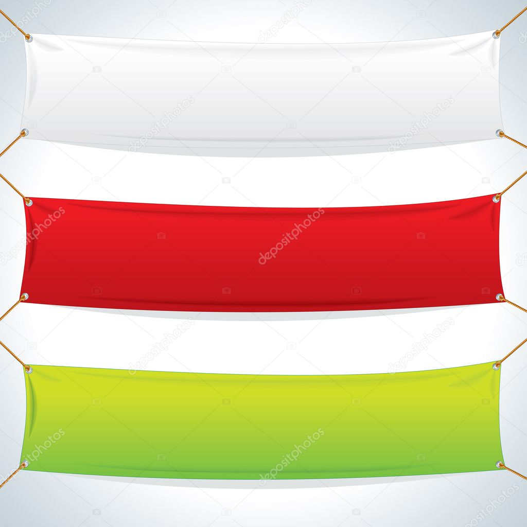 Illustration of Textile Banners. Vector Template