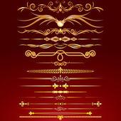 Fotografie kolekce zlatých linek