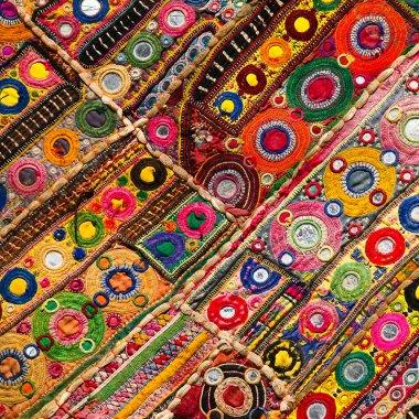 Patchwork quilt in India