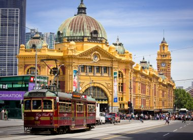 MELBOURNE, AUSTRALIA - OCTOBER 29: Iconic Flinders Street Station