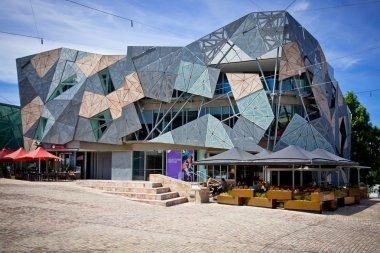 MELBOURNE, AUSTRALIA - OCTOBER 29: Iconic Federation Square