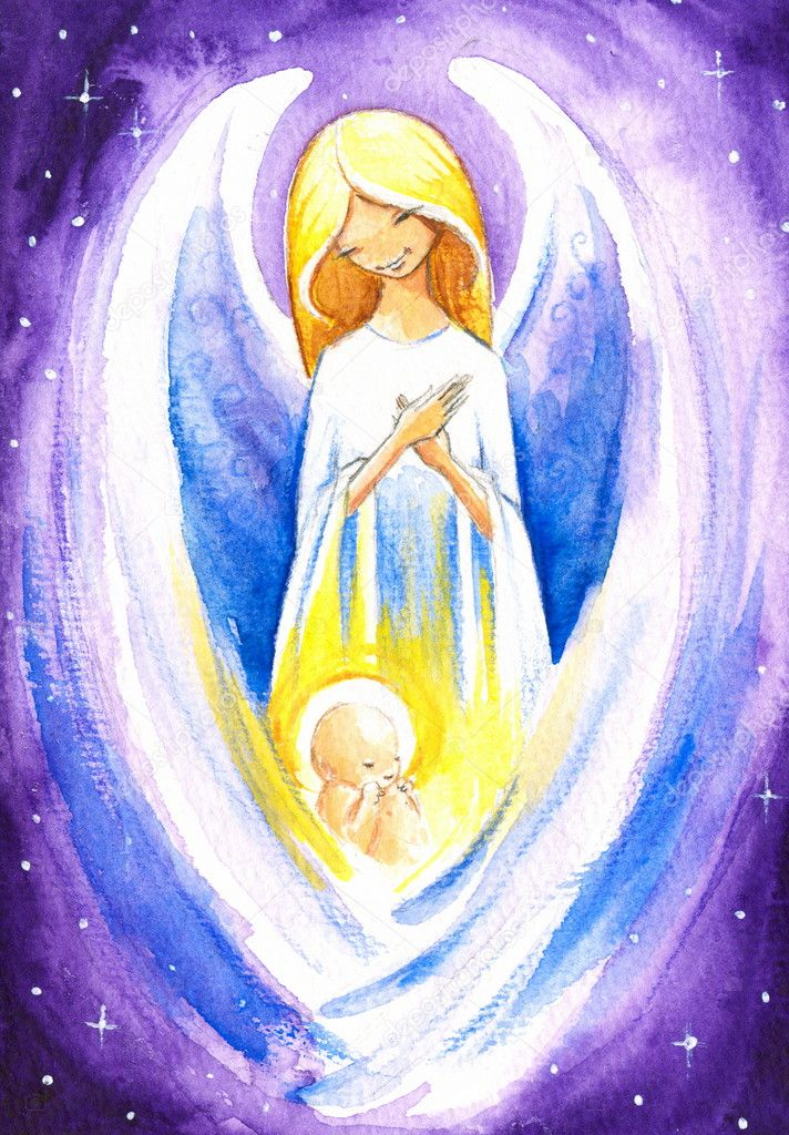Angel and baby