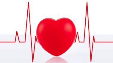 Heart beats cardiogram illustration stock vector