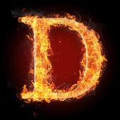 Fotografie Letters  in fire - Letter D