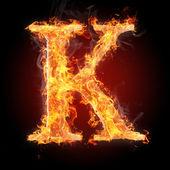 Fényképek Betűk tűz - betű K
