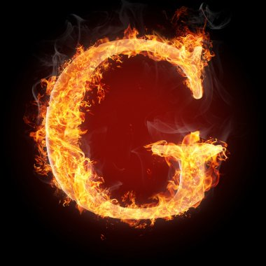 Letters  in fire - Letter G