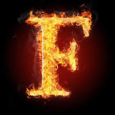 Letters  in fire - Letter F