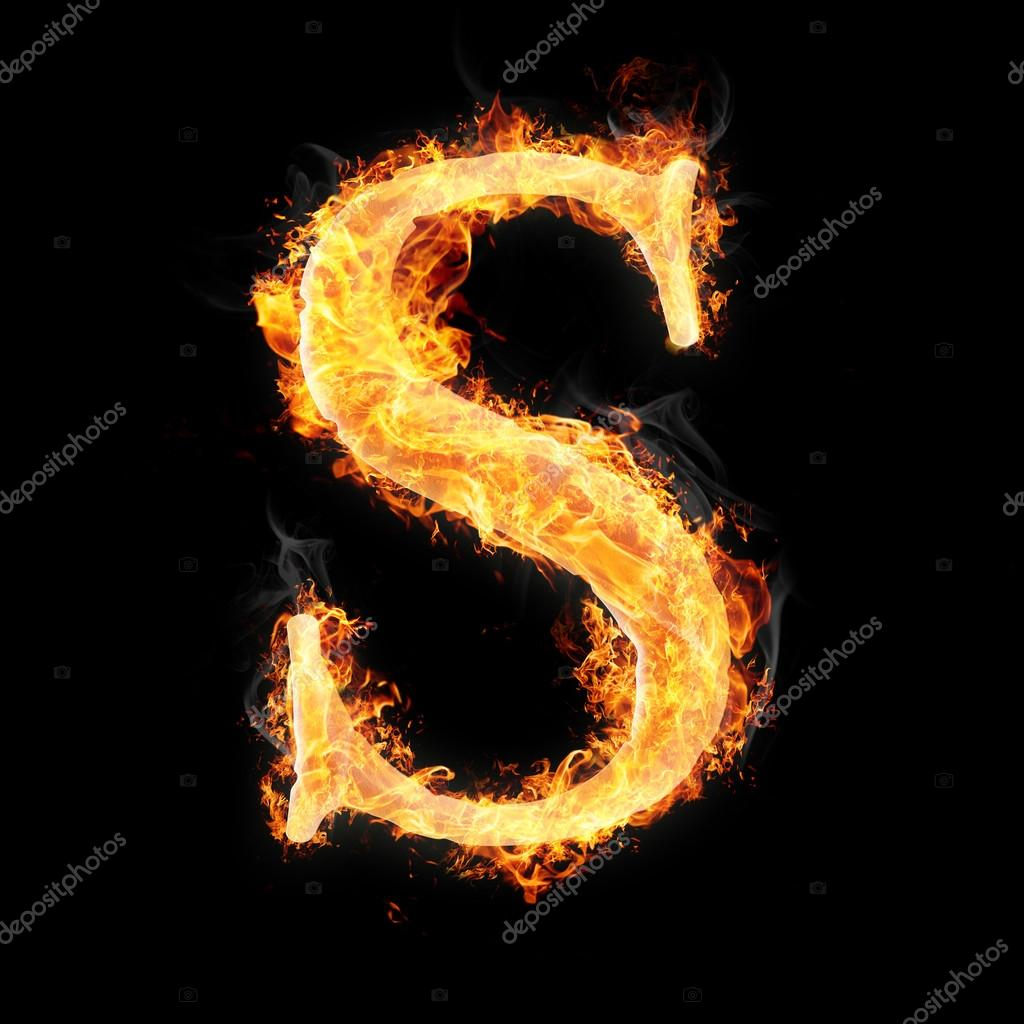 Letters And Simbols In Fire