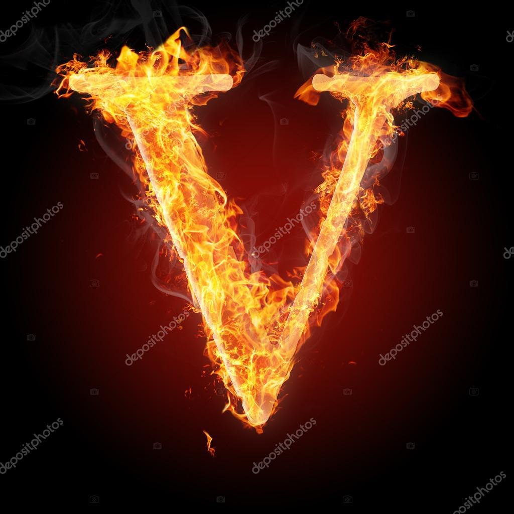 Letters in fire letter v stock photo tsalko 45320743 letters in fire letter v stock photo altavistaventures Gallery