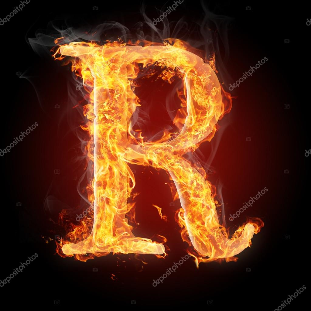 Letters in fire letter r stock photo tsalko 45321361 letters in fire letter r stock photo altavistaventures Images