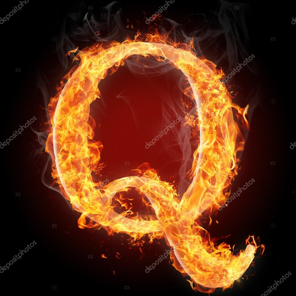 Letters in fire letter q stock photo tsalko 45321811 letters in fire letter q stock photo altavistaventures Images