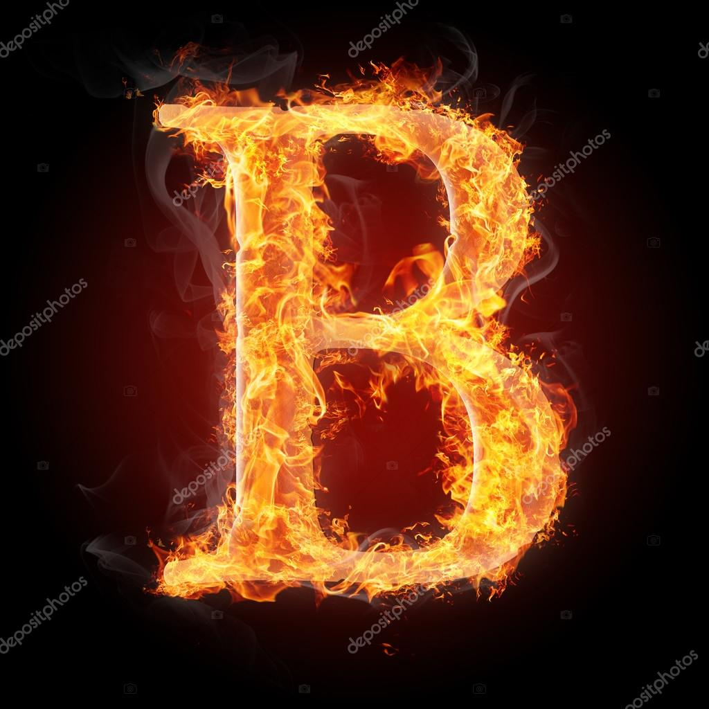 Letters in fire - Letter B — Stock Photo © tsalko #45321943 Letter B Fire