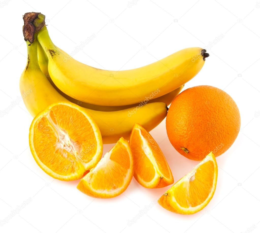 Апельсин и банан картинка для детей