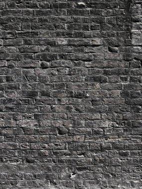 Black brick wall texture