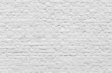 White brick wall texture or background stock vector