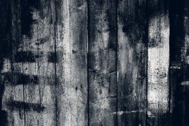Burnt old wooden fence