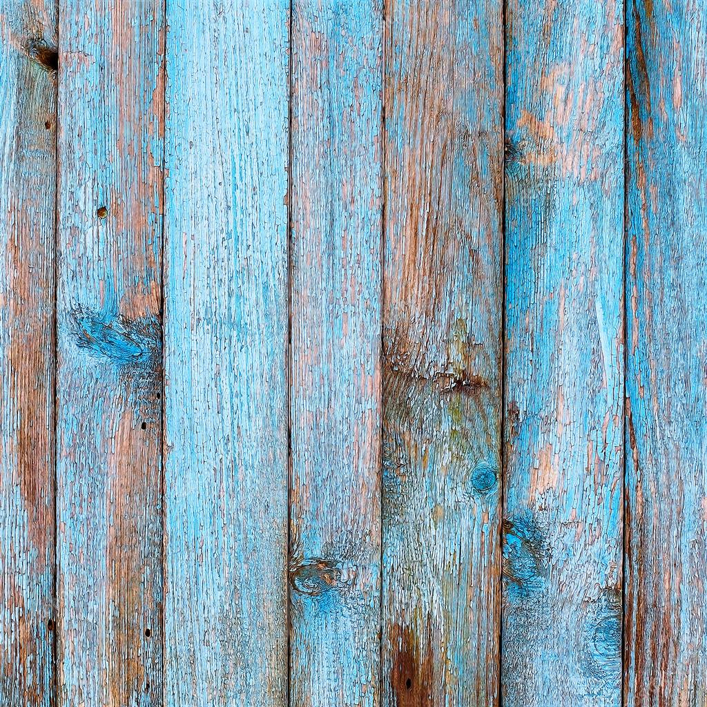 Rustic Wood Fence Background rustic wooden fence purification of blue paint — stock photo