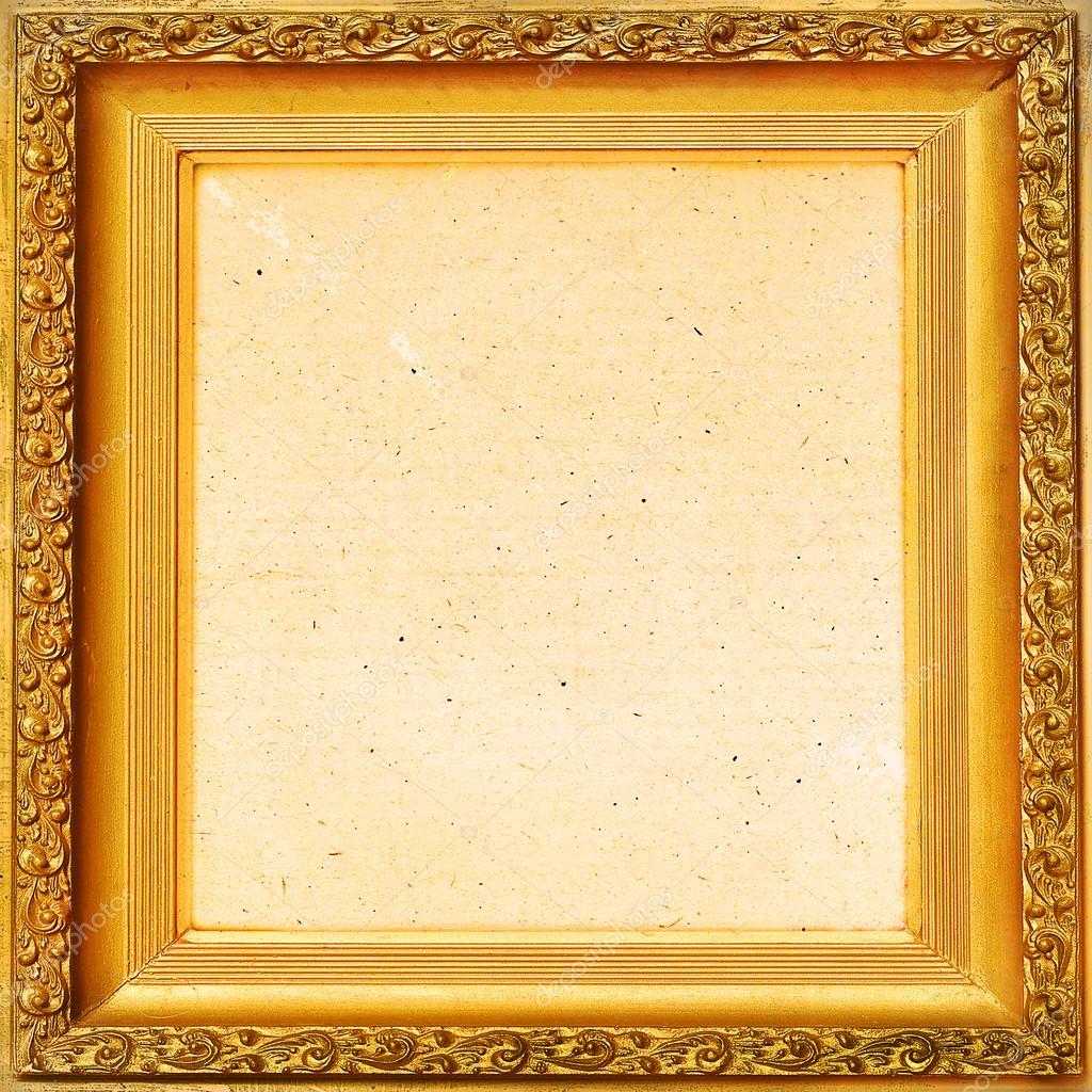 marco antiguo fondo Vintage, hoja de oro — Foto de stock © ALesik ...