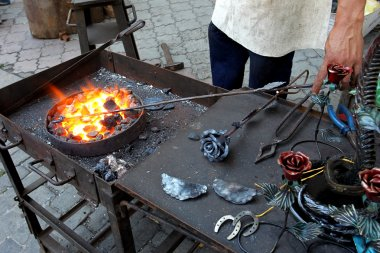 Blacksmith wrought iron blacksmith anvil traditional metal jewel