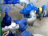 Wasser, Pumpstation, industriellen innen- und Rohre. Wasser-syst