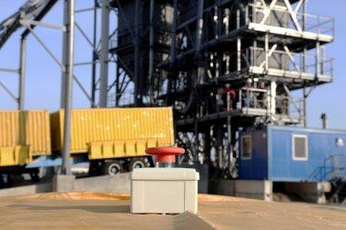 Button ceremonial start metal sheds , storage tank silo of wheat