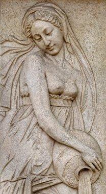 """Картина, постер, плакат, фотообои """"каменный фасад фрески декорации сцены из древнегреческих мифов """", артикул 47171821"""