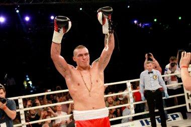 ODESSA, UKRAINE -31 May 2014: World heavyweight boxing champion,