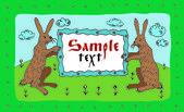 Grußkarte mit Hasen