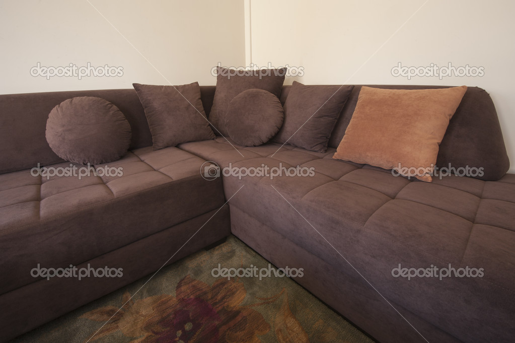 Images: l shape sofa | L-shaped sofa in living room — Stock ...